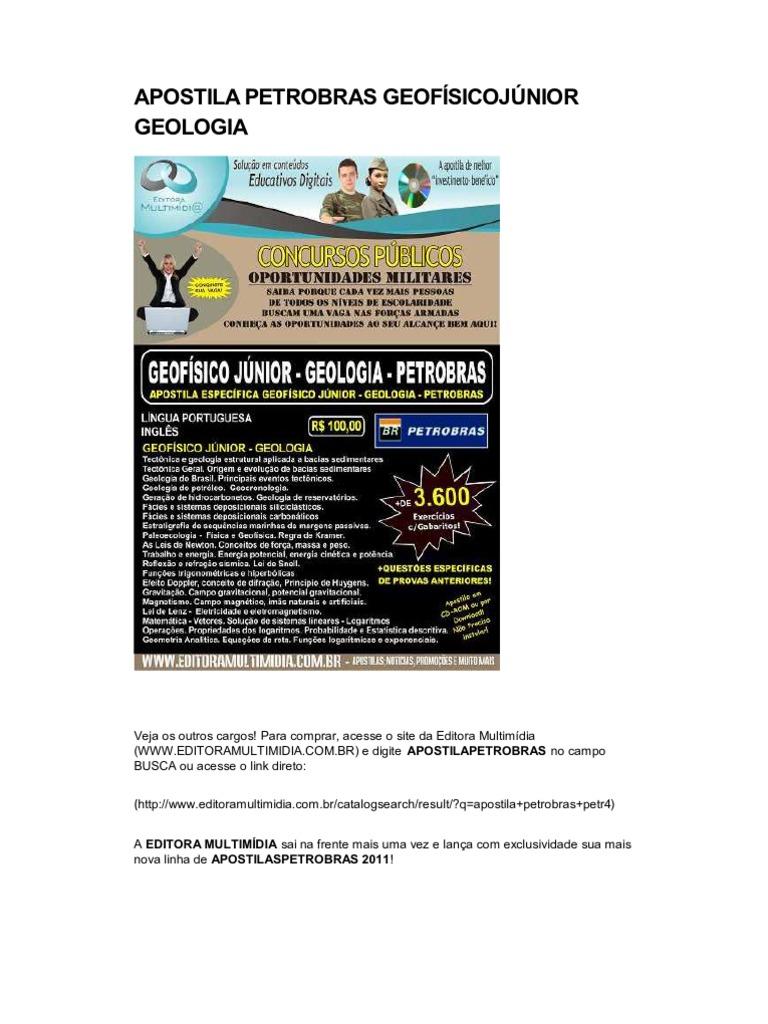 apostila concurso petrobras 2011