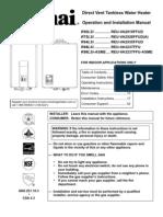 Rinnai RS75LS - Installation and Operation Manual