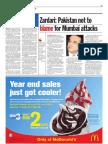 TheSun 2008-12-04 Page11 Zardari Pakistan Not Blame for Mumbai Attackes