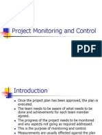 Project Monitoring and Control Autosaved