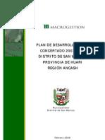 Fma Plan Desarrollo Local Concert Ado 2007 2021 Distrito San Marcos Provincia Huari Region Ancash