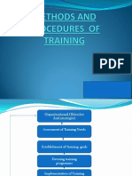 Methods and Procedures of Training