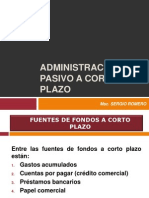 7 Admin is Trac Ion de Pasivos a Corto Plazo