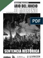El diario del Juicio Caso Moreno. Sentencia Histórica