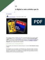 ARTICULO Fotografia Digital y Analogica