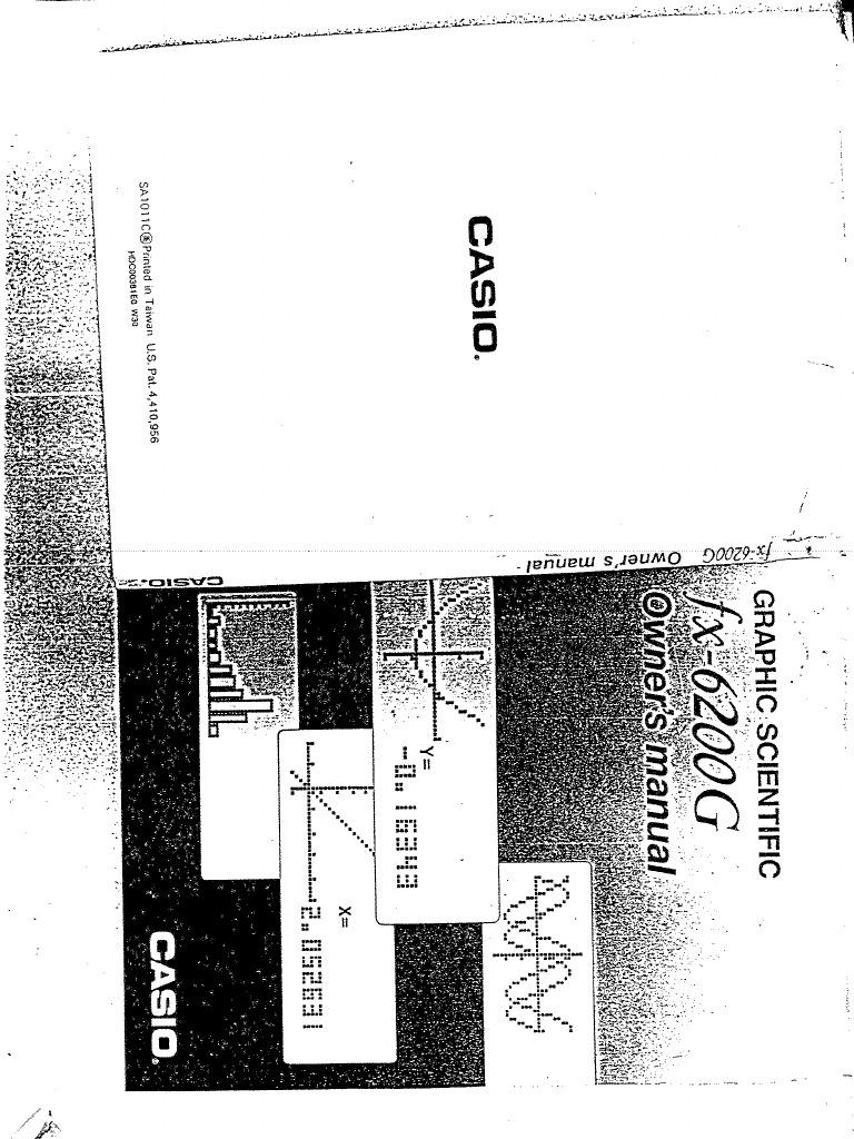 Casio Fx6200g User Manual