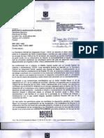 Carta de respuesta a la Alianza por la Niñez por parte de la Secretaría de Integración Social
