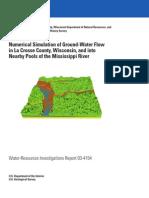 USGS La Crosse County GW Study WRIR-03-4154