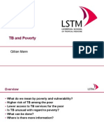 TB and Poverty (Dr. Gillian Mann)