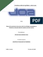 Efecto de los parámetros de proceso sobre la morfología y propiedades en Poliestireno reforzado obtenido mediante extrusión reactiva