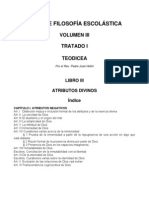 Suma Filosofía Vol III Trat I Lib III (Teodicea) Atributos Divinos