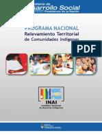 Relevamiento Territorial Comunidades Indigenas