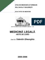 Medicina Legala (Forensic Medicine) - ROMANIAN