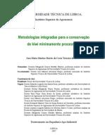 metodologias integradas para a conservação de kiwi minimamente processado
