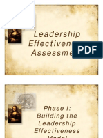 30th July Leadership Effectiveness Assessment Model
