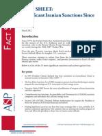 Fact Sheet on Iran Sanctions