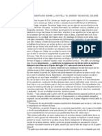Comentario Sobre La Novela El Hereje de m. Delibes
