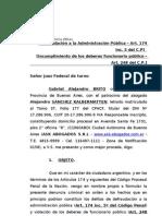 Denuncia Penal  (Daura- Casa de La Moneda)