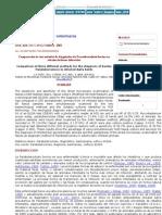 Archivos de medicina veterinaria - Comparación de tres métodos de diagnóstico de Paratuberculosis bovina en rebaños lecheros in