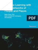 Machine Learning with Large Networks of People and Places