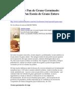 Cómo Hacer Pan de Grano Germinado Receta del Pan Esenio de Grano Entero