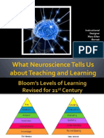 What Neuroscience Tells About Teach Learn