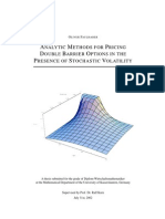 Analytic Methods for Pricing Double Barrier Options Volatility Faulhaber 2002