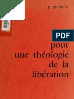 Gustavo Gutierrez Essai Pour Une Theologie de La Liberation