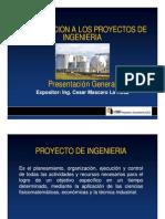 Introduccion a Los Proyectos de Ingenieria