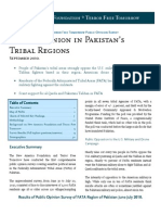New America Foundation Terror Free Tmrw - Public Opinion in Pakistans Tribal Regions