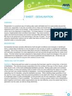 Factsheet Desalination