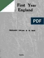 Tridandi Swami BH Bon - My First Year in England