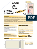 13a GEOR LOOK. Generador Simulador 0 4..20mA, 0 10V, Termopar 0 60mV