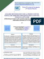 Análisis metodológico de tesis doctorales en investigación educativa