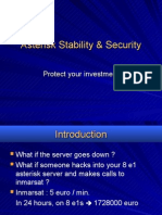 Asterisk Stability and Security