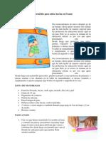 Portafolio para niños hecha en Foami