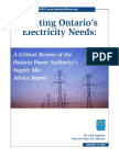 "\\\""Meeting Ontario\\\'s Electricity Needs\\\"""