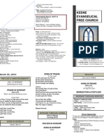 Church Bulletin -March 25th