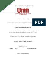 DOC 10 La Educacion Encierra Un Tesoro, CAP. 8, y CAP. 9