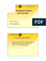 Hydrological statistics and extremes