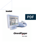 Scansoft Omnipage 15 User's Guide