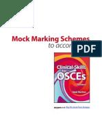 OSCES Mock Marking Scheme