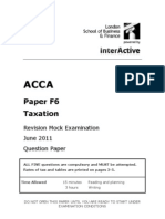 Revision Mock J11- F6 Questions Final