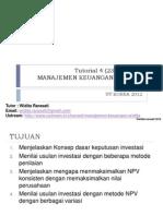 Tutorial 4 Manajemen Keuangan (25-03-2012)