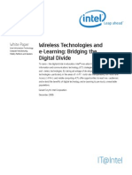Wireless Technologies and e Learning Bridging the Digital Divide