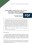 superávit primário - uma analise de sustentabilidade