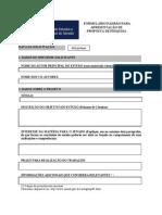 Formula Rio Propostas de Projetos