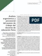 Analisis Ergonomico y Psicosocial Del Profesor de Educacion Fisica