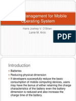 Power Management for Mobile Operating System
