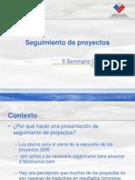 Seguimiento de Proyectos PMG